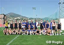 GB Rugby training on the Costa del Sol in Spain